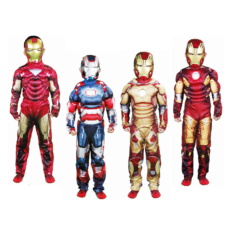 Children Boys Ironman Cos Clothes Set Kids Fantasy Clothing