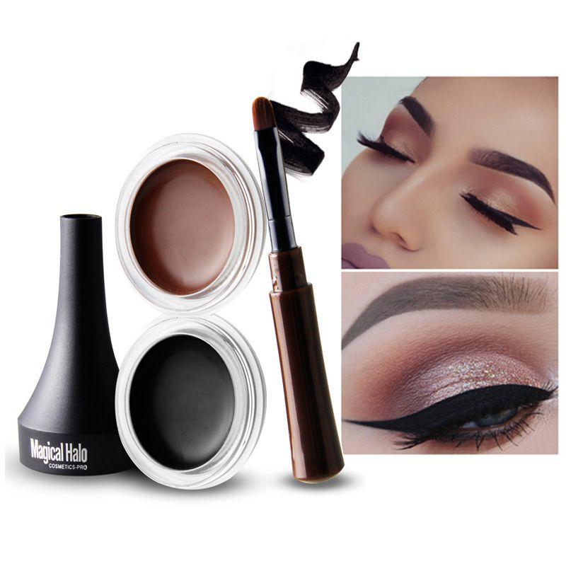 Professionelle Schwarz Wasserdicht Eyeliner Gel Make-up Kosmetik Gel Eye Liner Mit Pinsel 24 Stunden Lang Anhaltende Für Frauen Schönheit Schönheit & Gesundheit