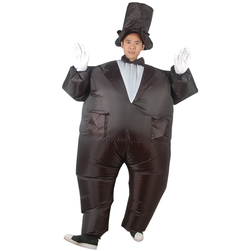 inflatable magician Costume for adult Magician Costume Fancy Dress Halloween Christmas Carnival Fat Jumpsuit Carnival Funny Dres
