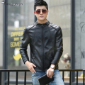 Factory Men's PU Leather Jacket For Leather Jacket Men Fashion Brand Black Male Coat Plus Size 5XL