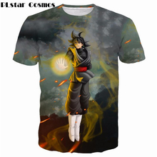 PLstar Cosmos Newest Classic Anime Dragon Ball Z Super Saiyan 3D T-Shirt Fire Black Goku t shirts Galaxy t shirt Hip Hop Tops