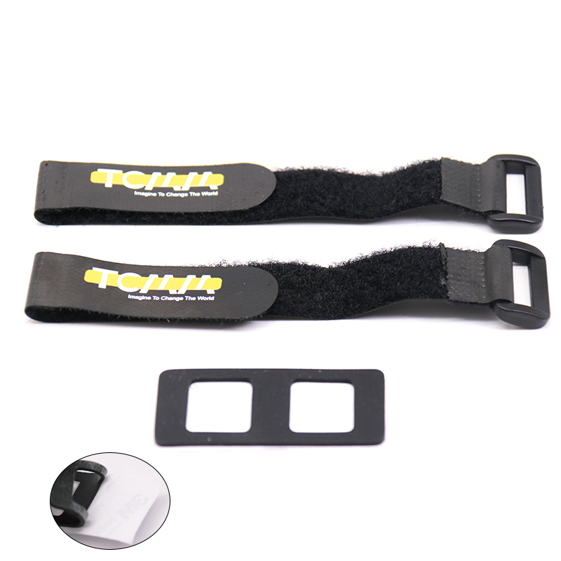 TCMM Lipo Battery Straps & Non-slip Mat Belt Tie for RC FPV Racing Drone image