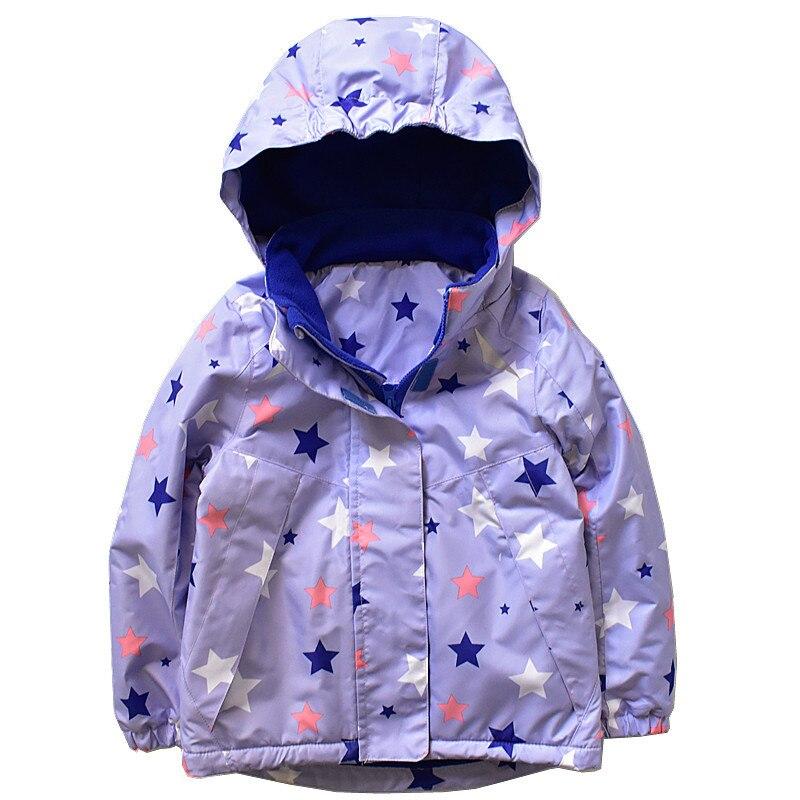 Waterproof Windproof Baby Boys Girls Jackets Hooded Autumn Winter Child Coat Warm Polar Fleece Children Outerwear 3-10Y