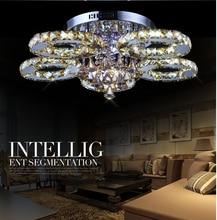 Недавно LED Хрустальные Потолочные Светильники Для Гостиной luminaria teto cristal Потолочные Светильники Для Украшения Дома Бесплатная доставка