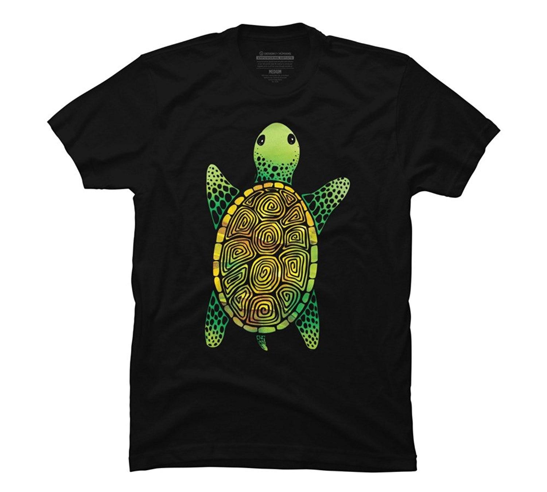 Shirts human design - 2017 New Summer Men Hot Sale Fashion Painted Watercolor Turtle Men S Graphic T Shirt Design By Humans