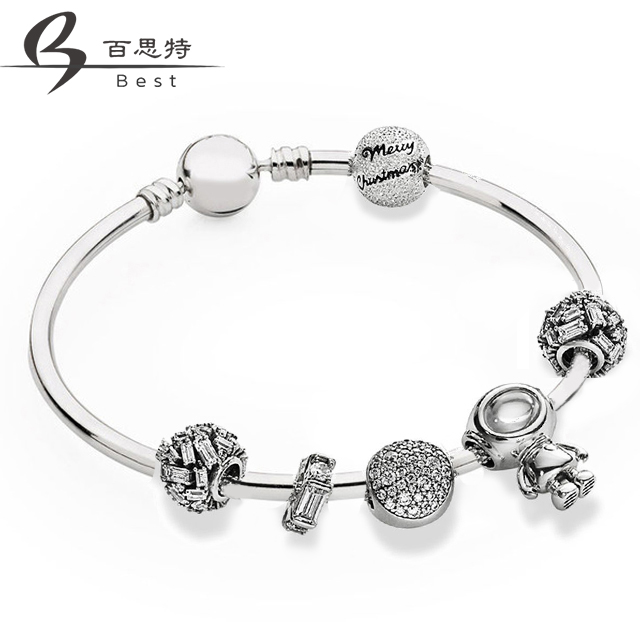 BEST 100% 925 Sterling Silver Star Crossing Bracelet Set Merry Christmas Charm Chiselled Elegance Charm Astronaut Free ShippingBEST 100% 925 Sterling Silver Star Crossing Bracelet Set Merry Christmas Charm Chiselled Elegance Charm Astronaut Free Shipping