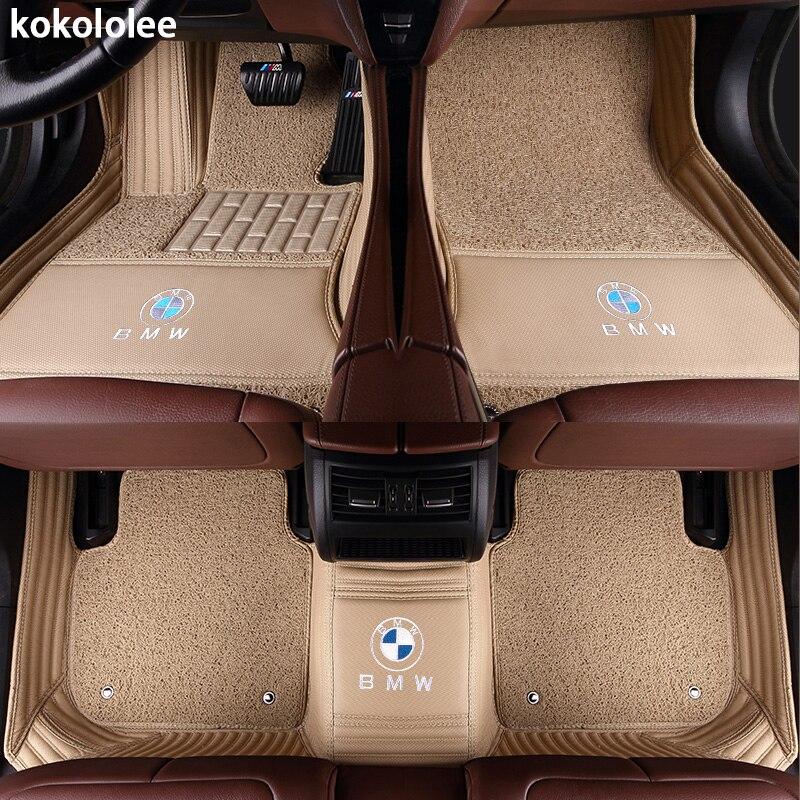 Kokololee Personnalisé tapis de sol voiture pour bmw f10 x5 e70 e53 x4 f11 x3 e83 x1 f48 e90 x6 e71 f34 e70 e30 z4 x2 étanche accessoires - 2