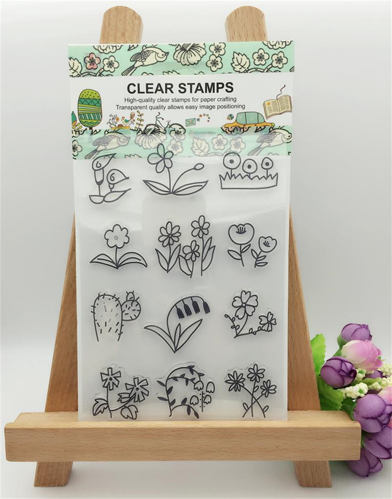 Rubber stamps for crafting - Flowers And Plants Branch Clear Silicone Rubber Stamp For Diy Scrapbooking Photo Album Decorative Craft Yuw076