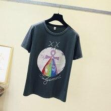 2019 New Harajuku Tarot Printed Women T-shirts Casual Tee Tops Summer Short Sleeve Female cotton T shirt Clothing