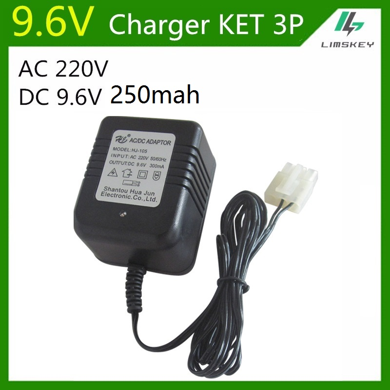 ac 220v dc 9 6v 250 mah charger for nicd or nimh battery pack