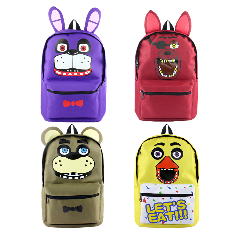 Cartoon five nights at freddys Backpack School Bags Mochila Children Schoolbags For Teenagers Boys&Girls School Book Bag japan pokemon harajuku cartoon backpack pocket monsters pikachu 3d yellow cosplay schoolbags mochila school book bag with ears