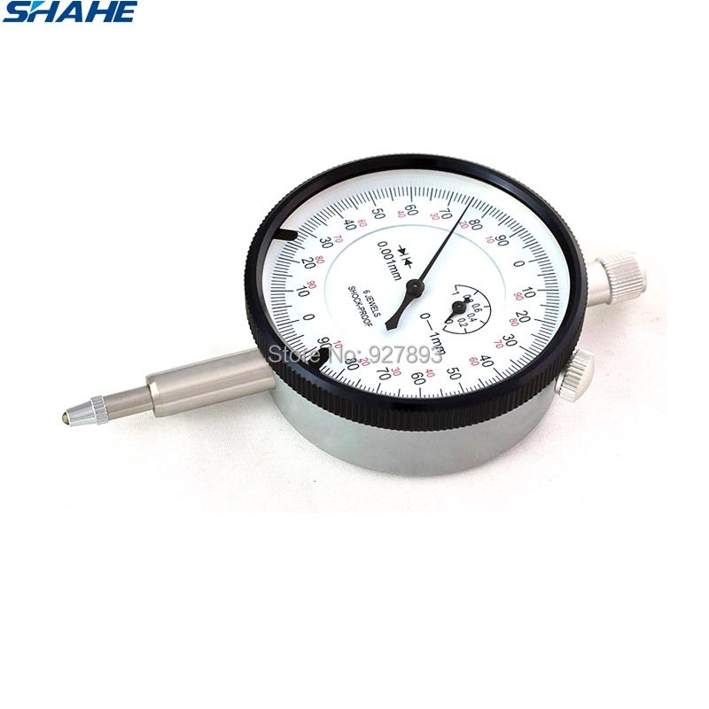 shahe 0-1 mm dial indicator 0 001 mm dial indicator gauge metric measurement tools gauge indicator tool