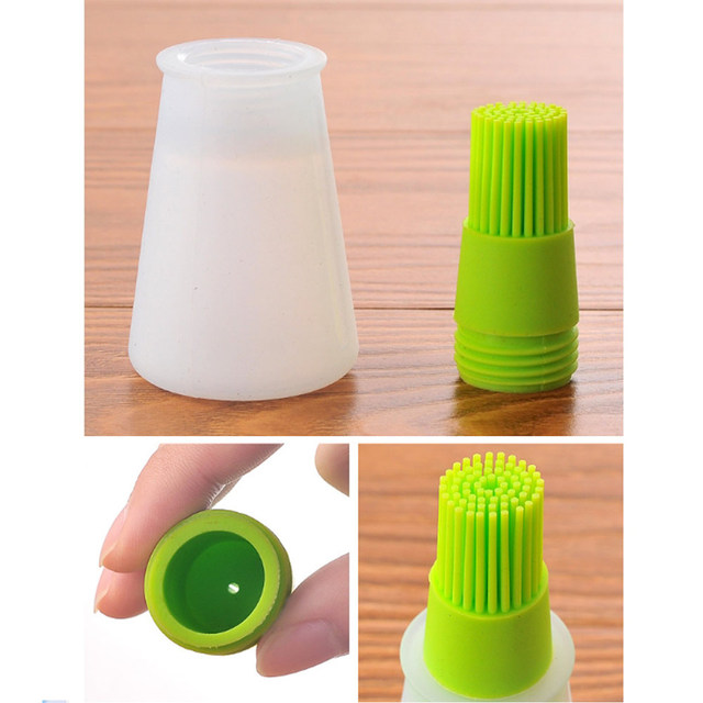 Silicone BBQ Grill Oil Bottle Brushes Cleaning Basting