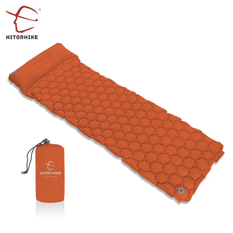 Hitorhike  Sleeping Pad Camping Mat With Pillow air mattress  Inflatable Cushion Sleeping Mat Fast Filling Air Moistureproof funny summer inflatable water games inflatable bounce water slide with stairs and blowers