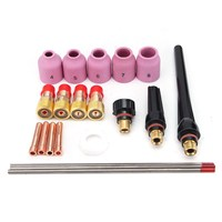 21Pcs Set TIG Welding Torch Stubby Gas Lens Kit WT20 For Tig WP 17 18 26