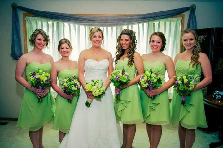 Popular Lime Green Short Bridesmaid Dresses-Buy Cheap Lime Green ...