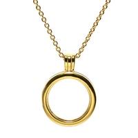 Necklaces & Pendants Choker Golden Floating Locket Necklace Pendant DIY Sterling Silver Jewelry Women Men Silver 925 Pingente