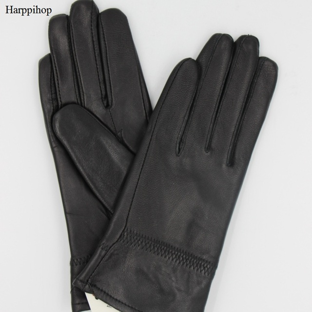 Winter Warming Genuine Leather Thick Gloves Child Heavy Type Real Leather Cute Gloves Real Leather Mittens
