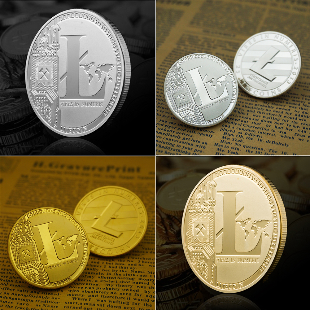 shop with crypto buy Litecoin Metal Physical Coin 1pc pay with bitcoin