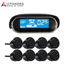 AUTOADAS A102 Coche Sistema de Aparcamiento con 8 sensores A Prueba de agua 18.5mm Buzzar Sensores de ayuda al aparcamiento de Alarma de aparcamiento