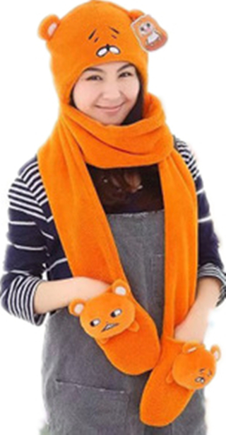Himouto! Umaru-chan Plush Hat Cap With Gloves Mitten Umaru Doma Cosplay Costumes Sankaku Head Figure Plush Hat With Claw Pockets