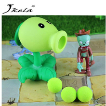 [Jkela] PVZ Plants vs Zombies Peashooter PVC Action anime Figure Model Toy Gifts Toys For Children High Quality launch plants