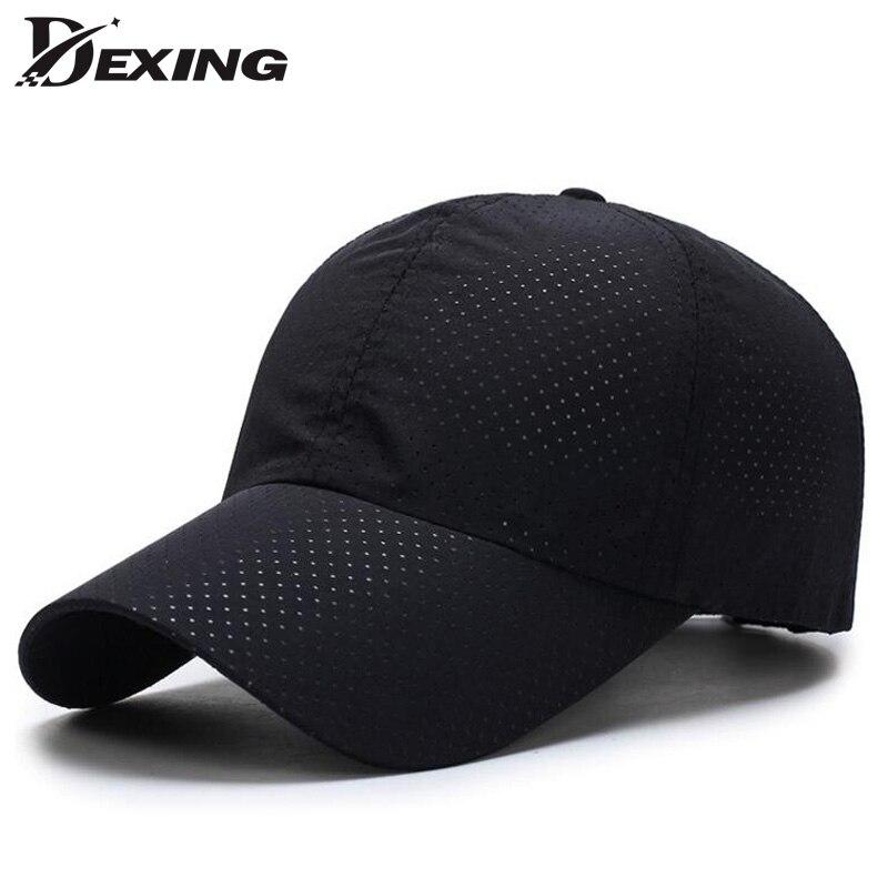 Prix pour [Dexing] cap hommes 2017 Designer D'été Breatheblack maille chapeaux Casquette de baseball Hommes Chapeaux Cap Os avec 6 Couleurs