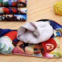 2PAIR New 2016 Kids Socks Cartoon Mario Pattern Winter Girls Boys Socks 4-9 Years Cotton Warm Short Sock Christmas Birthday Gift