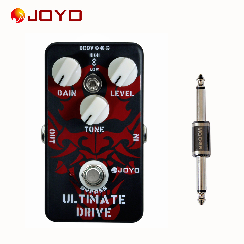 ФОТО JOYO JF-02 Ultimate Drive Effect Pedal+MOOER PC-S pedal connector guitar effect pedal