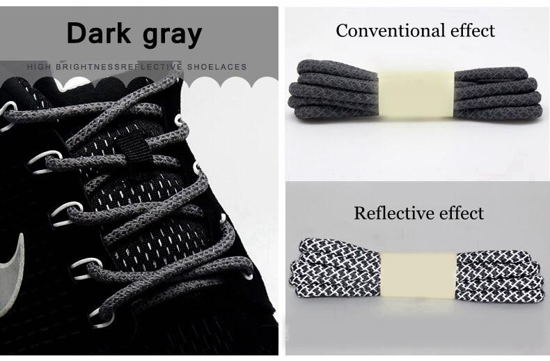 1 пара флуоресцентных кроссовок шнурки спортивные шнурки полиэстер Пейсли светоотражающие шнурки Ронды видимая безопасность кордон обуви кружева