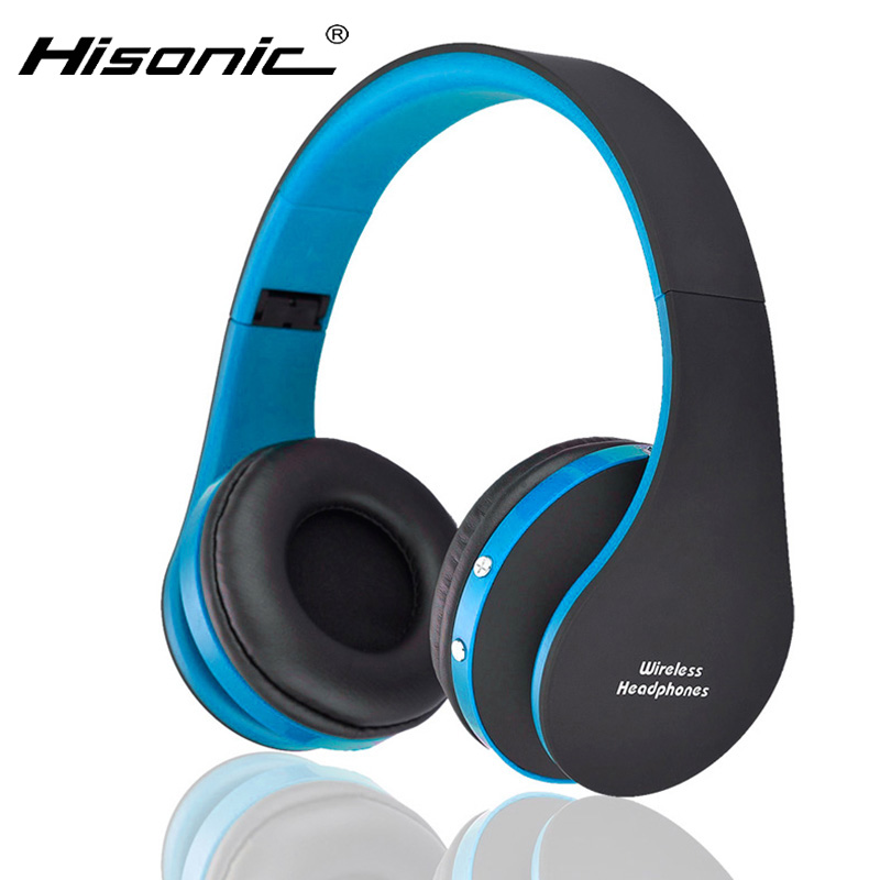 hisonic bluetooth headset wireless headphones stereo foldable sport earphone microphone headset. Black Bedroom Furniture Sets. Home Design Ideas