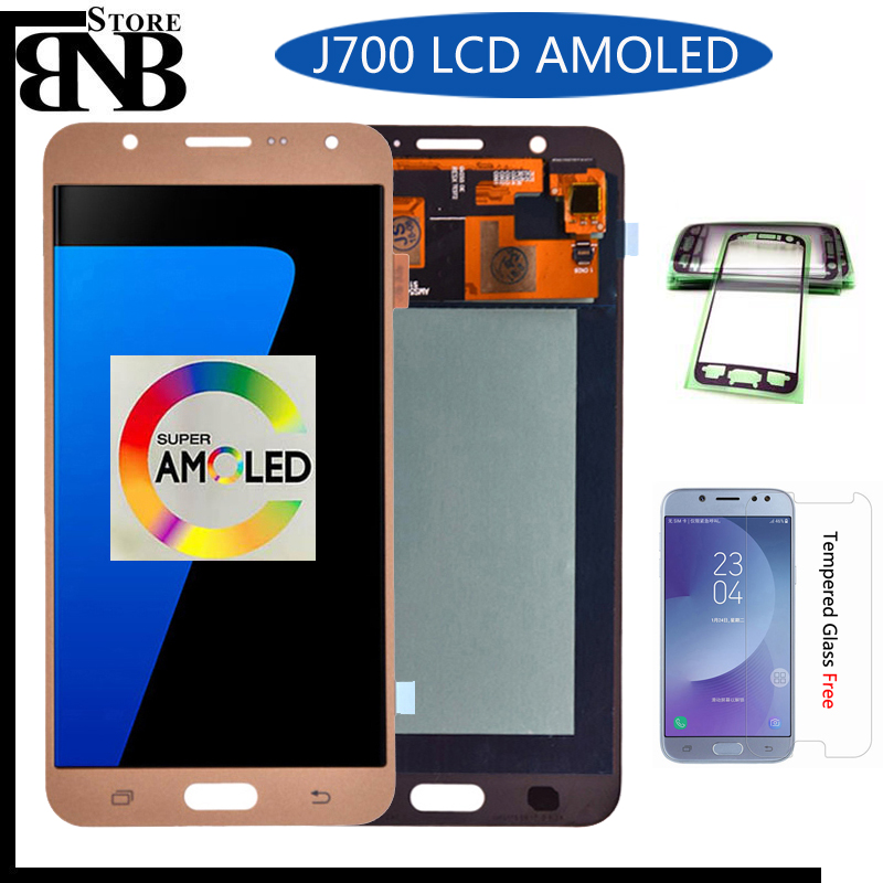 Original AMOLED LCD For <font><b>Samsung</b></font> <font><b>Galaxy</b></font> <font><b>J7</b></font> 2015 <font><b>J700</b></font> J700F J700H J700M LCD Display with Touch Screen Digitizer Assembly image