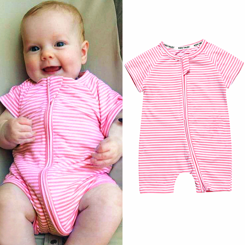 Baby Rompers Summer Rompers Cartoon Baby Girl Clothing Cotton Baby Boy Clothes Roupas Bebe Newborn Rompers Summer Pink Rompers