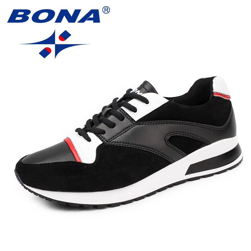 $34.02 BONA New Classics Style Men Running Shoes Lace Up Men Athletic Shoes Outdoor Jogging Sneakers Comfortable Soft Free Shipping
