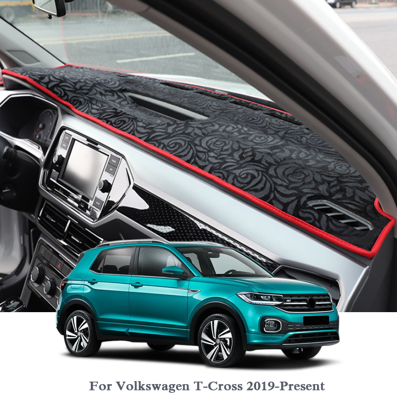 For Volkswagen T-Cross 2019-Present Dashboard Mat Protective Interior Photophobism Pad Shade Cushion Car Styling Auto Accessory