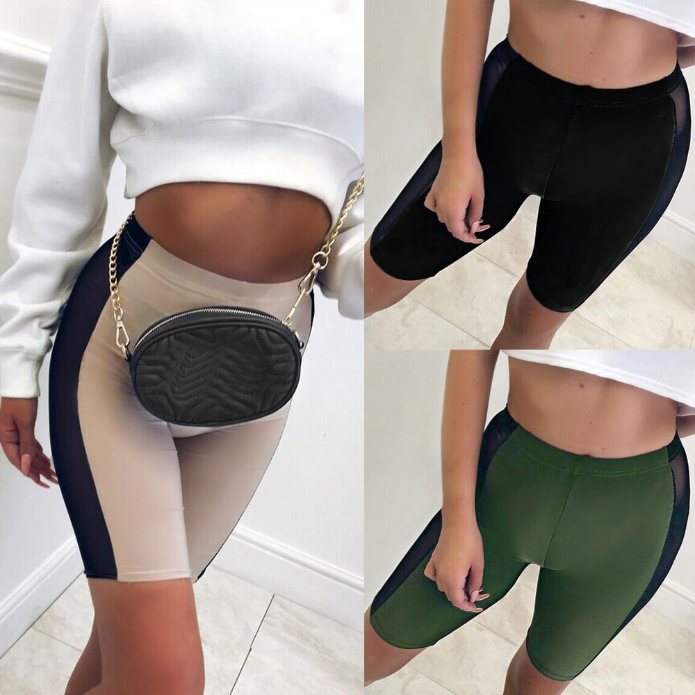 Womail Women Shorts Summer Mesh Patchwork Sports Gym Fitness Shorts Athletic Trousers Shorts Solid Loose Skinny Dropship J21