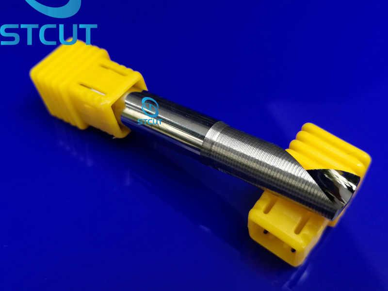 1 unidad de fresas de flauta única para Herramientas CNC de aluminio, brocas de fresadora de extremo plano CNC de carburo sólido, paneles compuestos de aluminio