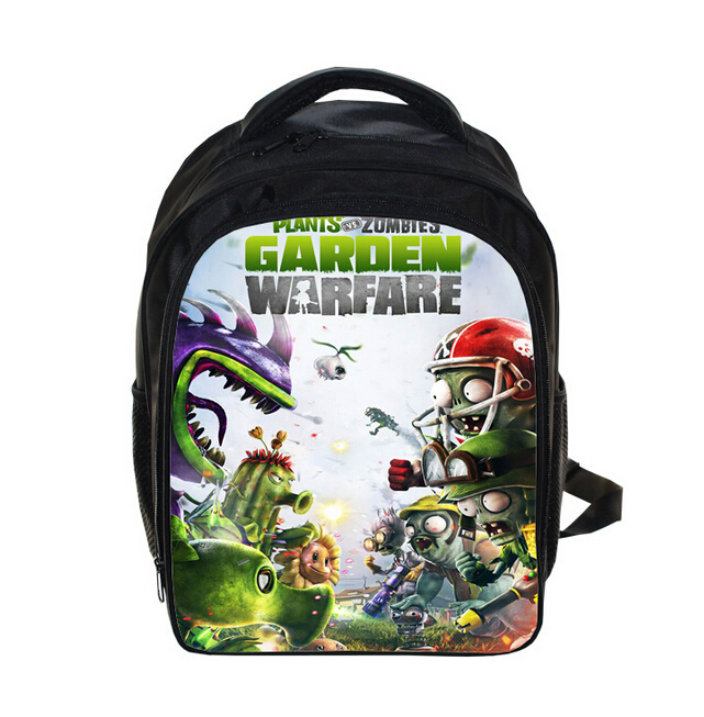 Children Hot Game Plants VS Zombies School Bags 3D Printing Backpack Backpacks For Teenage Boys Girls Bag Mochila Escolar
