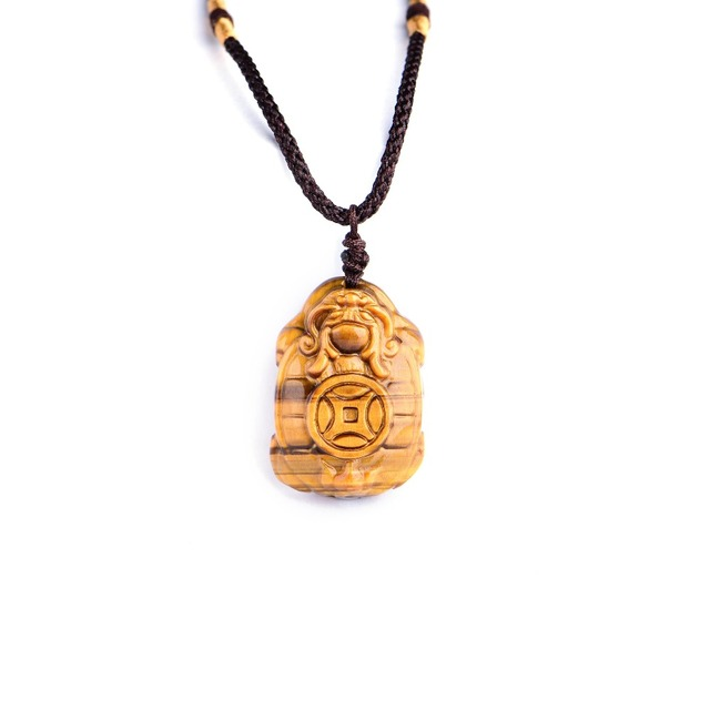 Natural yellow tiger eye pendant carved chinese dragon turtle natural yellow tiger eye pendant carved chinese dragon turtle necklace lucky amulet bring wealth men stone mozeypictures Images