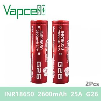Envío gratis 2 piezas Vapcell 18650 batería 2600mAh 25A G26 igual VTC6A/20 S Li-Ion baterías recargables