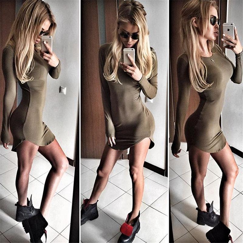 HTB1KMHYLXXXXXXtXXXXq6xXFXXXU - Long Sleeve Mini Bodycon Split Tshirt Bandage Dresses JKP208