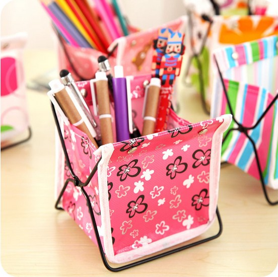 1PC Creative Students Desktop Storage Box Wrought Iron Folding Cosmetic Sundries Shelf Finishing Rack Storage Baskets LF 038