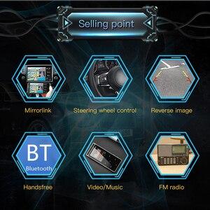 """Image 4 - 7 """"HD pantalla táctil Bluetooth coche MP4 reproductor MP5 Video Audio FM Radio Centro consola retrovisor Cámara teléfono conectar coche Displayer"""