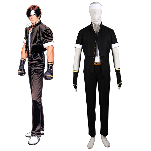 Video Game Cosplay FTG KOF THE KING OF FIGHTERS Kyo Kusanagi Cosplay Costume  Japanese School Uniform