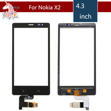 4.3 For Nokia X2 Dual SIM RM-1013 X2DS LCD Touch Screen Digitizer Sensor Outer Glass Lens Panel Replacement 3 5 for nokia n8 n 8 lcd touch screen digitizer sensor outer glass lens panel replacement