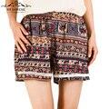 Nueva Moda Casual Mujer Pantalones Cortos Calientes de Verano Estampado floral Mujeres Sexy shorts Pantaloncini Shorts Más El Tamaño