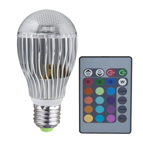 E27 8W LED Light Bulb 2 Million Color RGB Flash Light with Remote Control AC 100V-240V