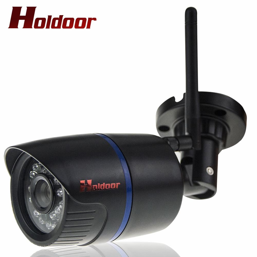 Waterproof IP65 IR Night Vision Mini HD IP Camera Wireless Wifi Bullet Onvif P2P Black Home Security Camara with card slot