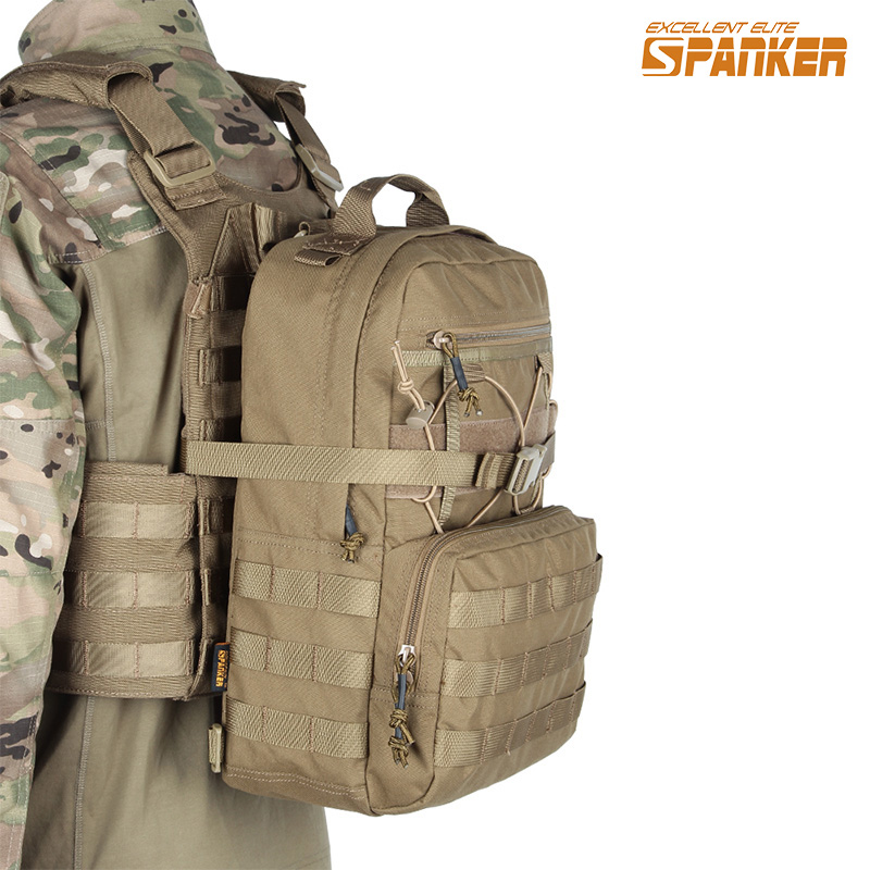 EXCELLENT ELITE SPANKER Outdoor Military Portable Hydration Backpack Hunting Camping Molle Vest Nylon Magazine For Hiking Bag emersongear lbt2649b hydration carrier for 1961ar molle backpack military tactical bags hunting bag multicam tropic arid black