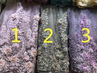 2018 Latest French 3D Lace Fabric Embroidered High Quality African Lace Fabric Nigerian Lace Fabrics For evening Dress